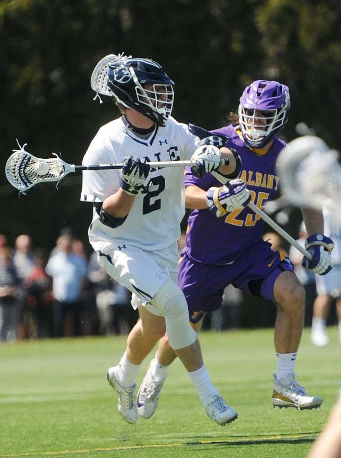 The Yale men's lacrosse team can cap its first perfect Ivy League season since 1956 with a win over Harvard on Saturday. Photo: Brian A. Pounds / Hearst Connecticut Media / Connecticut Post