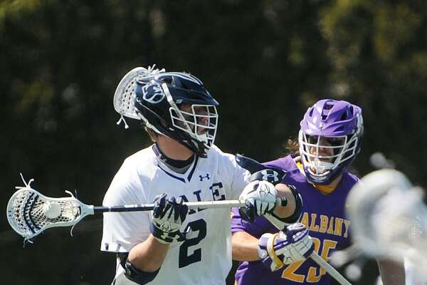 The Yale men's lacrosse team can cap its first perfect Ivy League season since 1956 with a win over Harvard on Saturday.