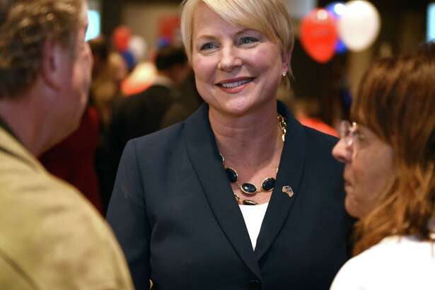 Assembly candidate Mary Beth Walsh thanks supporters during a Saratoga County Republican Committee gathering Tuesday Nov. 8, 2016 in Saratoga Springs, NY. (John Carl D'Annibale / Times Union)