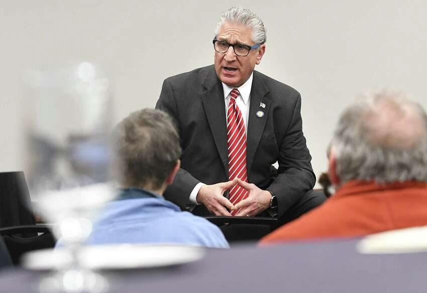 Saratoga and Schenectady county Republican Sen. Jim Tedisco is sponsoring with Long Island's Carl Marcellino to disallow the use of statewide student exam results in teacher performance reviews. (Lori Van Buren/Times Union)
