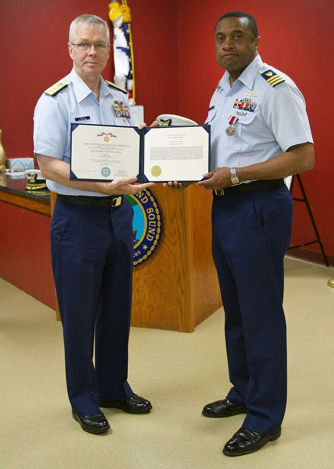 The Long Island Sound sector of the Coast Guard has a new commander --  Kevin B. Reed, right. Reed was appointed on April 26, 2018. Photo: Contributed Photo / U.S. Coast Guard / Contributed Photo / Connecticut Post Contributed