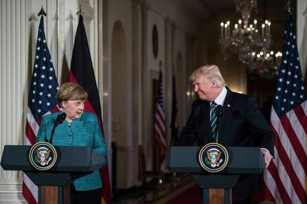 President Donald Trump and German Chancellor Angela Merkel are set to meet Friday.