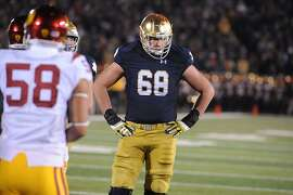 The 49ers selected offensive tackle Mike McGlinchey of Notre Dame with their first-round pick, the ninth overall in the NFL Draft.