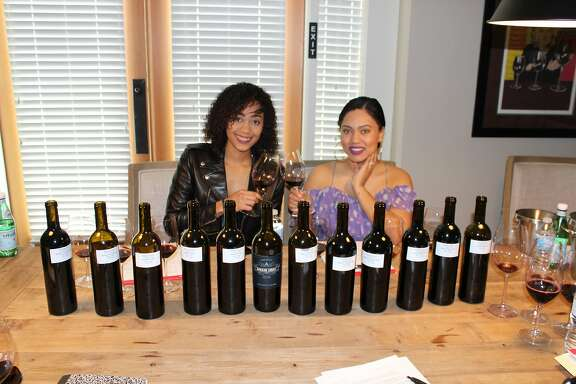 Ayesha Curry and Sydel Curry, the wife and sister of Warriors player Stephen Curry, debut their new wine: Domaine Curry Napa Valley Cabernet Sauvignon 2015
