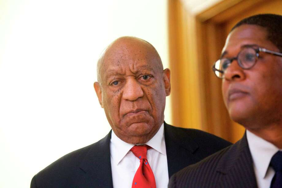 """Actor and comedian Bill Cosby reacts while being notified a verdict was in in his sexual assault retrial, Thursday, April, 26, 2018, at the Montgomery County Courthouse in Norristown, Pa. A jury convicted the """"Cosby Show"""" star of three counts of aggravated indecent assault on Thursday. The guilty verdict came less than a year after another jury deadlocked on the charges.  (Mark Makela/Pool Photo via AP) Photo: Mark Makela / 2018 Getty Images"""