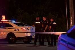 A driver led Harris County Sheriff's Deputies on a pursuit through Houston that ended in gunfire Thursday evening, officials said.
