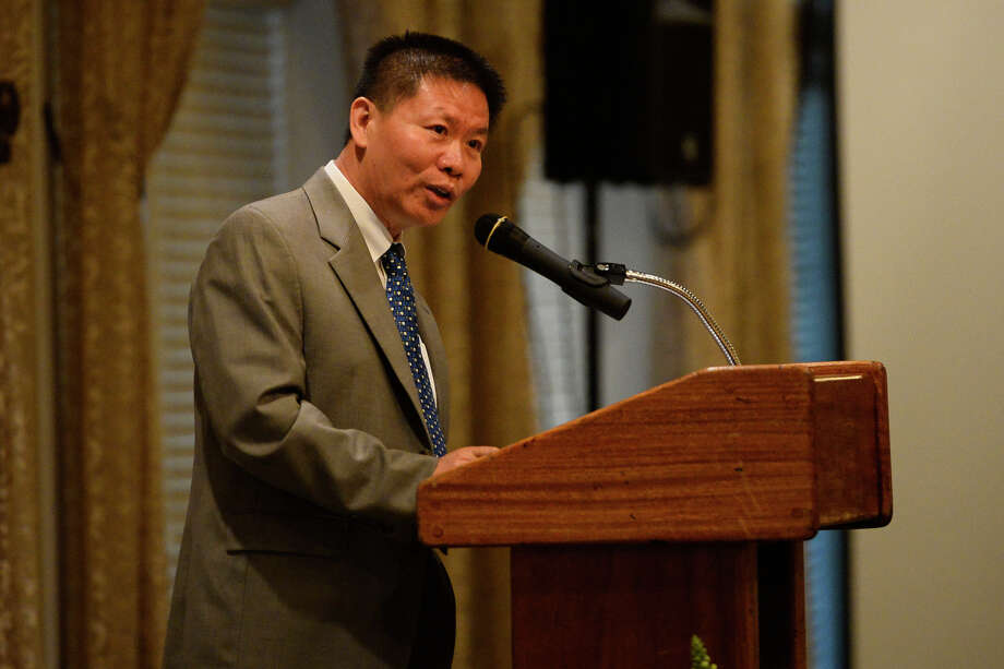 Bob Fu, Presdient of ChinaAid, speaks during the ChinaAid banquet April 26, 2018, at Midland Country Club. James Durbin/Reporter-Telegram Photo: James Durbin