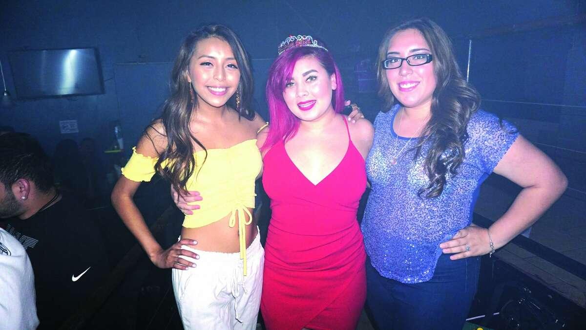 Sandy Cantu, Merzadeis Newsome and Veronica Cervantes at Club Vibe Friday, April 27, 2018