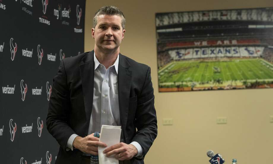 Houston Texans general manager Brian Gaine leaves his introductory news conference at NRG Stadium on Wednesday, Jan. 17, 2018, in Houston. Gaine is the Texans third general manger in team history. ( Brett Coomer / Houston Chronicle ) Photo: Brett Coomer/Houston Chronicle