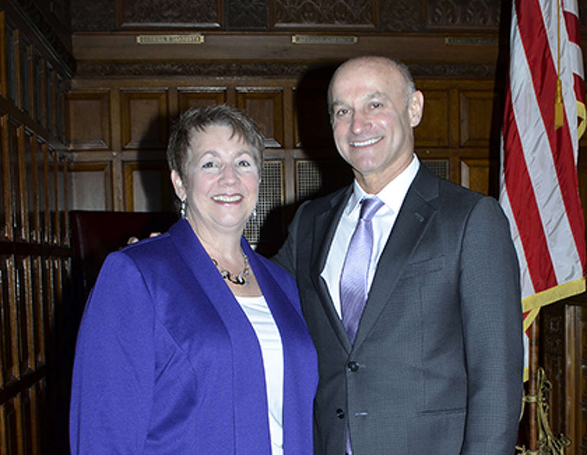 Maria Barrington, chief of staff for thestate Unified Court System, and Chief Administrative Judge Lawrence K. Marks. (nycourts.gov)