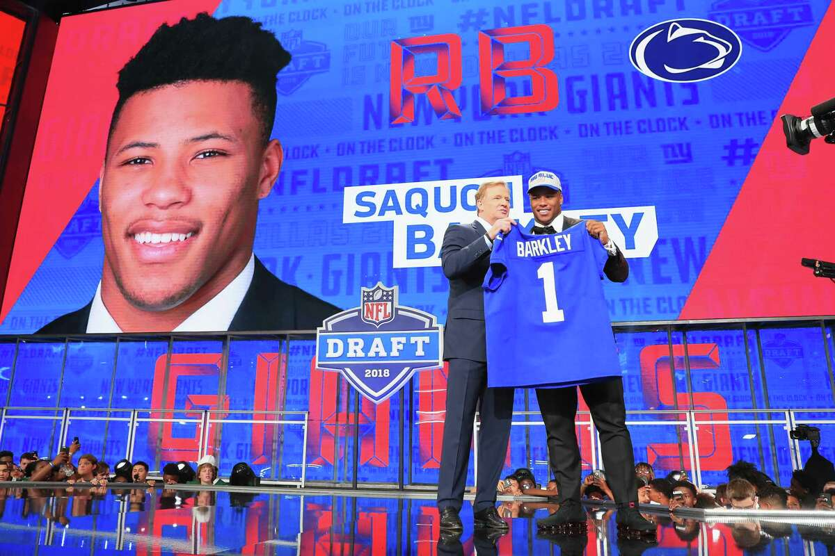 1. The Texans play teams that made the first seven picks: Cleveland (Oklahoma quarterback Baker Mayfield), the New York Giants (Penn State running back Saquon Barkley), New York Jets (USC quarterback Sam Darnold), Cleveland (Ohio State cornerback Denzel Ward), Denver (North Carolina State defensive end Bradley Chubb), Indianapolis (Notre Dame guard Quenton Nelson) and Buffalo (Wyoming quarterback Josh Allen).