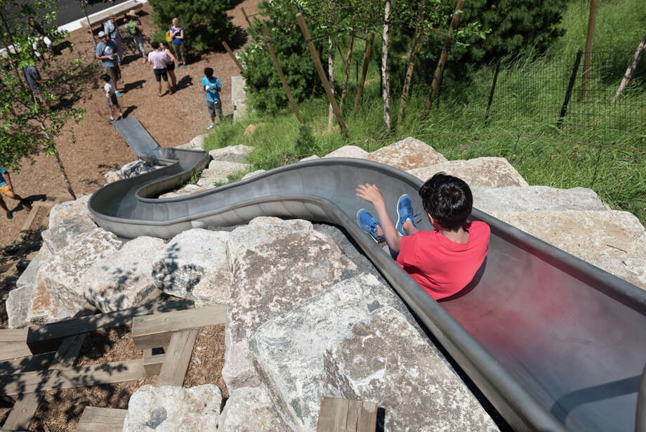 Slides at The Hills at Governors Island are the longest in New York City. Photo: Timothy Schenck