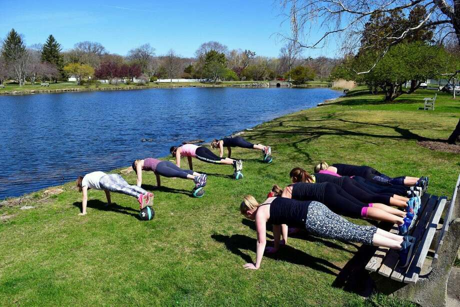 A StrongMom group fitness class will launch in New Canaan starting on May 1, as National Physical Fitness Month begins. Photo: Contributed Photo