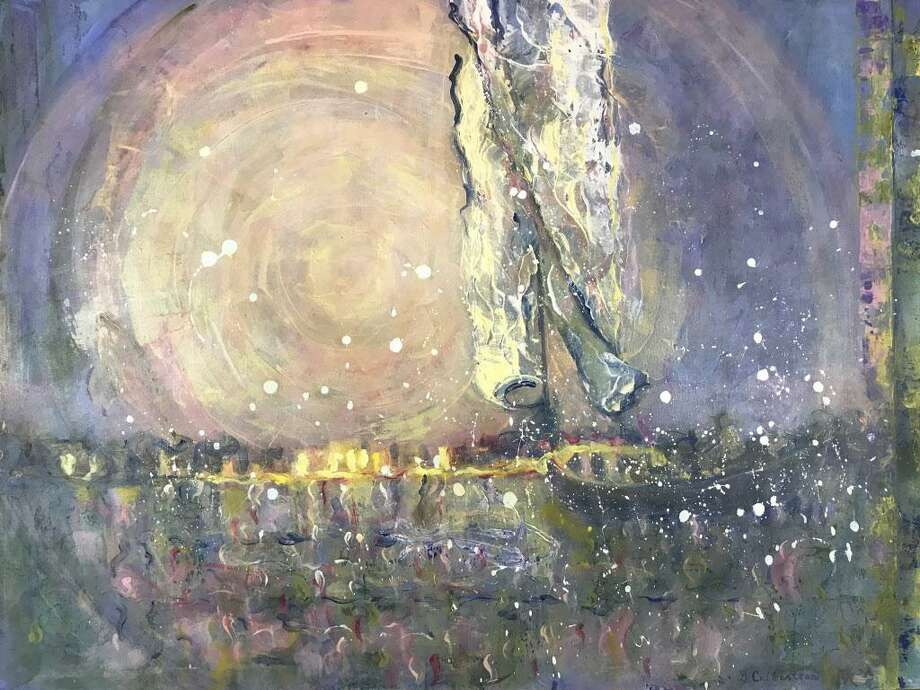 "During May, the Geary Gallery of Darien will present Abstract Color and Texture featuring the abstract acrylics and oils of Northport, N.Y., native and Fairfield resident Ginabeth Culbertson. Shown is her work ""Moonsail."" Photo: Ginabeth Culbertson / Contributed Photo / Connecticut Post contributed"