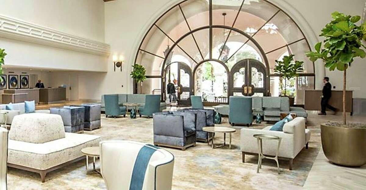 Lobby in the renovated Hilton Santa Barbara Resort. (Image: Hilton)