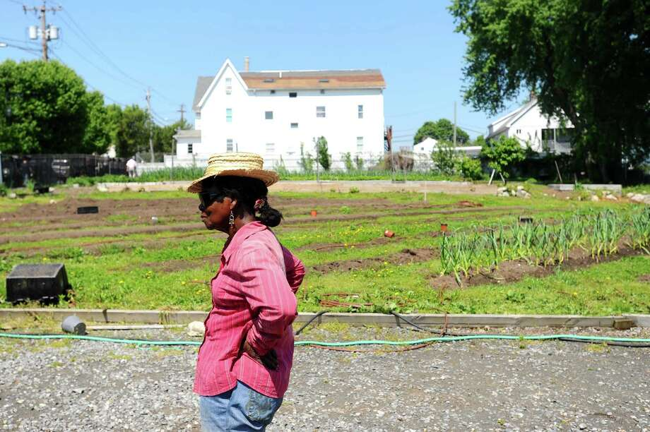 Agnes Roberts runs Fairgate Farm on the West Side, where a farmers market will open May 31 thanks to a grant from the U.S. Department of Agriculture. Photo: Michael Cummo / Hearst Connecticut Media / Stamford Advocate