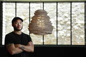 James Beard Award-winning chef Paul Qui in his new restaurant, Aqui in Houston.