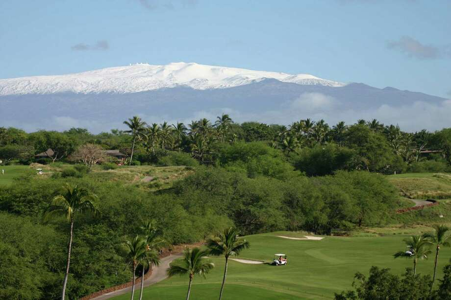 Golf course with Maunakea behind. (Kirk Lee Aeder/Hawaii Tourism Authority) Photo: Kirk Lee Aeder / San Diego Union-Tribune