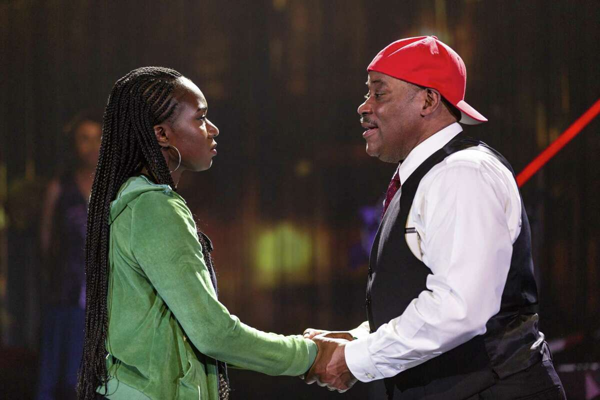 Gabrielle Beckford and LawrenceClayton have a moment in