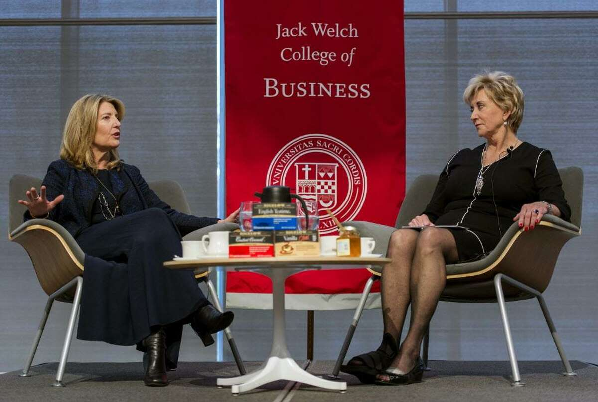 Bigelow Tea President and CEO Cindi Bigelow was the guest at Sacred Heart University's