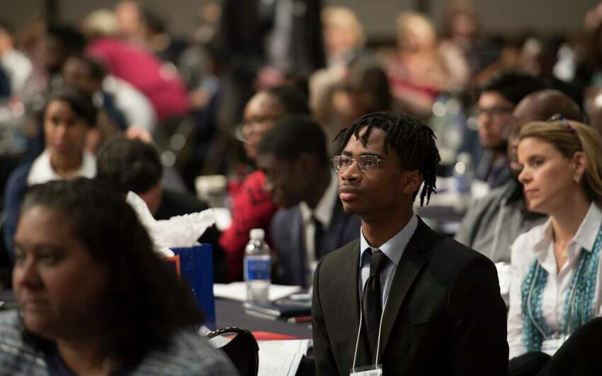 A large assembly was on hand for the New York State My Brother's Keeper Symposium held in the Rockefeller Plaza Convention Center Friday April 26, 2018 in Albany, N.Y. According to the New York State Department of Education,