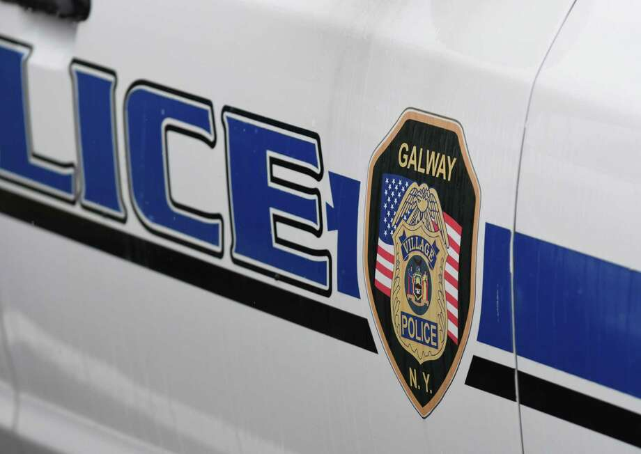 A Village of Galway police car sits in the town's school bus garage area on Friday, April 27, 2018, in Galway, N.Y. (Will Waldron/Times Union) Photo: Will Waldron, Albany Times Union