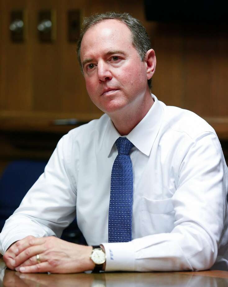U.S. Rep. Adam Schiff (D) talks with the Chronicle Editorial Board on Thursday, Aug. 17, 2017 in San Francisco, Calif. Photo: Russell Yip / The Chronicle 2017