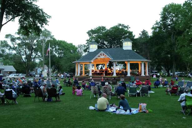 Members of the Stratford Community Concert Band will present free evening concerts on Tuesday, June 9, and Tuesday, July 7, at the Paradise Green Gazebo, Stratford. Wayne Hiller, of Bridgeport, will conduct.