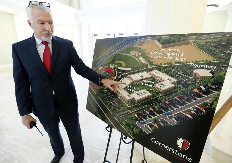 Cornerstone Christian School superintendent Jerry Eshleman talks Wednesday, April 25, 2018 about the school's new location on NW Military Highway north of Loop 1604. Photo: William Luther, Staff / San Antonio Express-News / © 2018 San Antonio Express-News