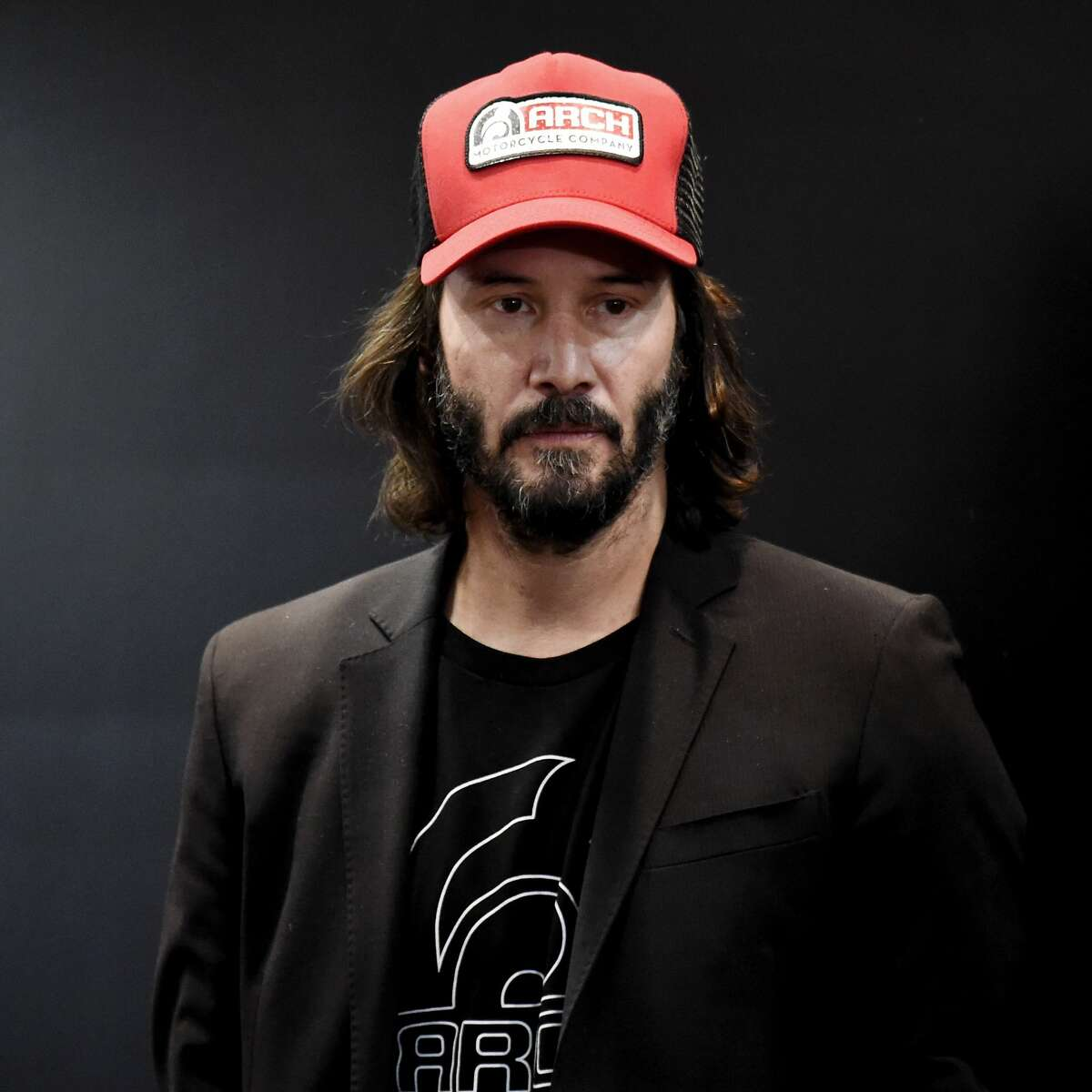 Keanu Reeves attends Arch press conference at EICMA 2017, the International Motorcycle Fair, on November 8, 2017 in Milan, Italy.