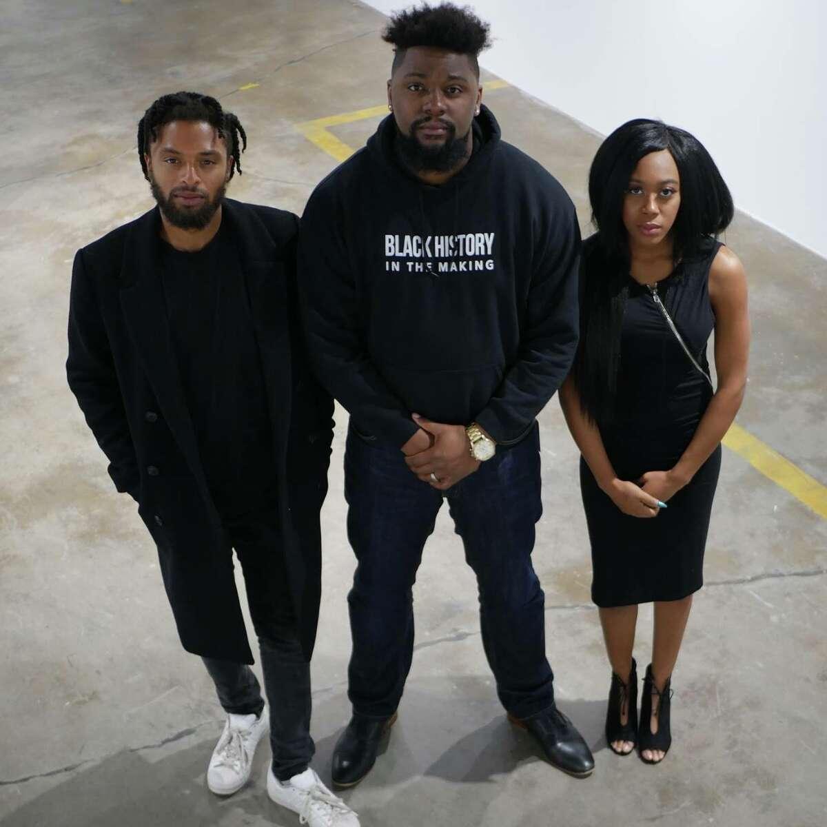 National Black Film Festival team includes (from left) Nate Edwards, J.O. Malone and Denisha Hardeman.