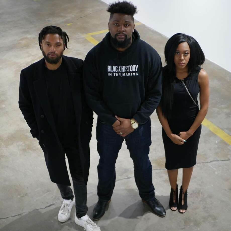 National Black Film Festival team includes (from left) Nate Edwards, J.O. Malone and Denisha Hardeman.