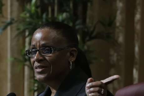 Desley Brooks is facing removal from her position as Public Safety Committee by council President Larry Reid if new authority is given to him with discussed legislation on Tuesday, Feb. 6, 2018 in Oakland, CA.