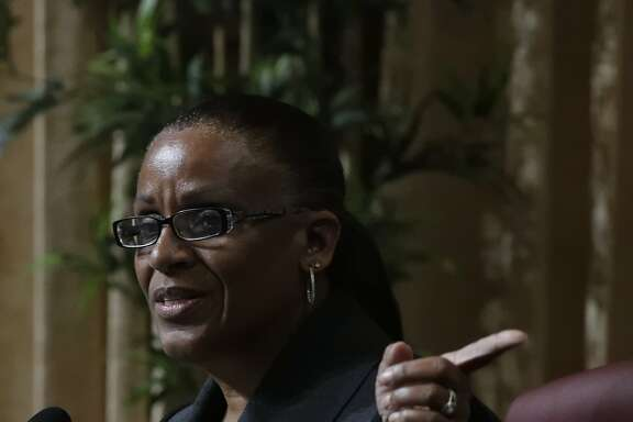 Desley Brooks is facing to be removed from her position as Public Safety Committee by council President Larry Reid if new authority is given to him with discussed legislation on Tuesday, Feb. 6, 2018 in Oakland, CA.