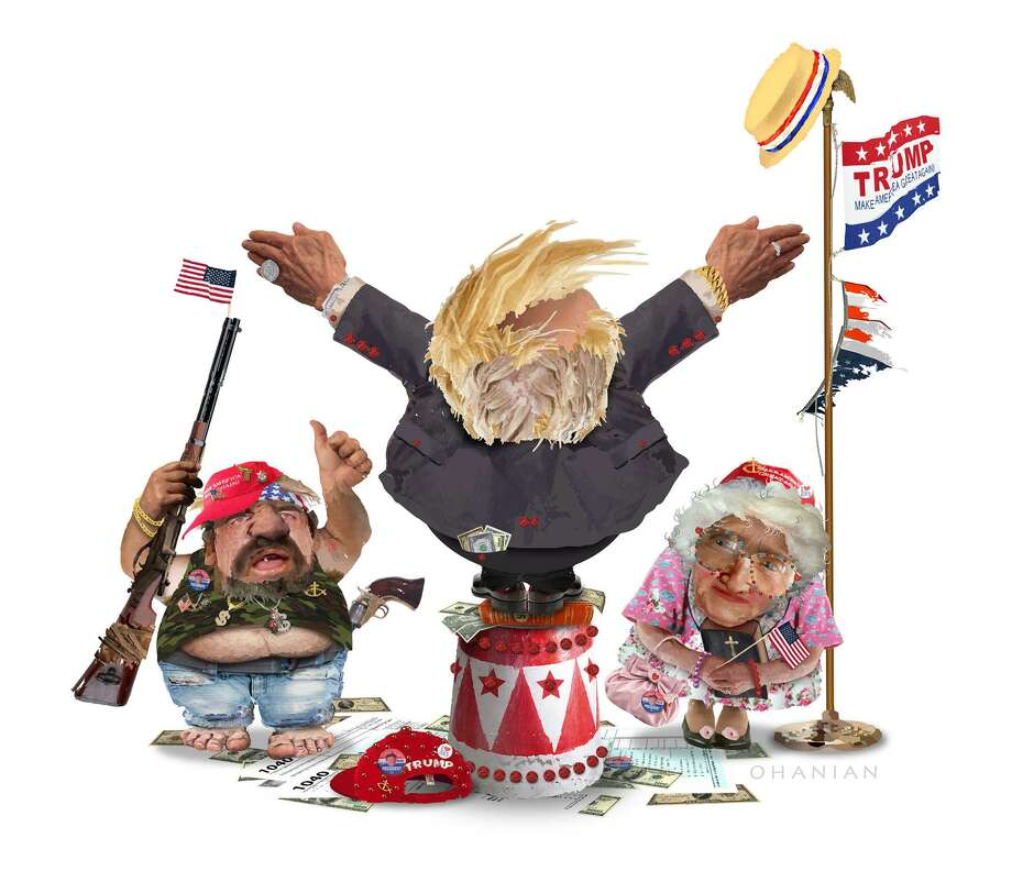 This artwork by Nancy Ohanian refers to the different types of people that support Donald Trump. Photo: Nancy Ohanian