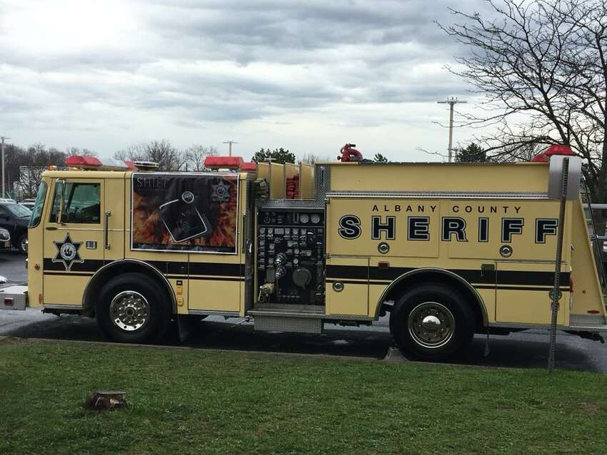 Kickoff for the Sheriff's Inmate Fire Training program in Albany County (image from facebook.com/craig.apple.9)