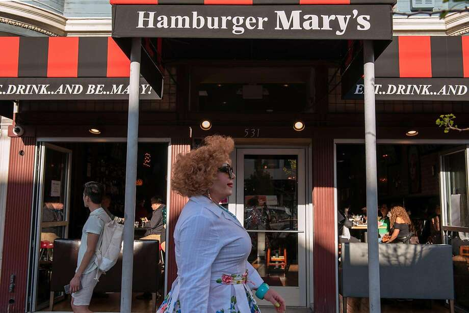 Hamburger Mary's has opened in the Castro district space previously occupied by the Patio Cafe in 2000. Photo: Rosa Furneaux / Special To The Chronicle