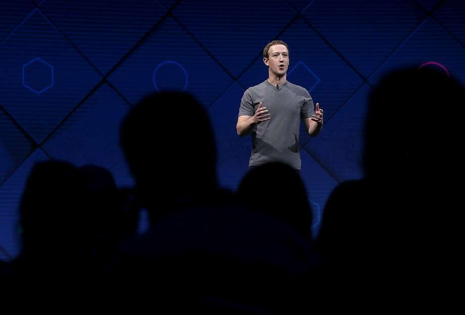 Facebook CEO Mark Zuckerberg delivers the keynote address at Facebook's F8 Developer Conference in 2017 at McEnery Convention Center in San Jose. This year, he is expected to address the recent changes Facebook has made as it tightens data security. Photo: Justin Sullivan / Getty Images 2017