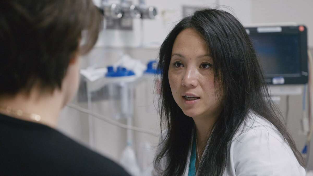 """University Hospital pediatric trauma surgeon Dr. Lillian Liao, interviewed on the HBO news show """"Vice"""" about her treatment of victims of the Sutherland Springs shooting late last year."""