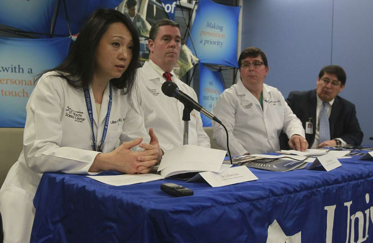 """Dr. Lillian Liao (left), pediatric trauma and burn director for University Hospital, is shown in this 2014 photo. She was interviewed on HBO news show """"Vice"""" about the tragic day in late November when she was called to treat young victims of a church massacre in Sutherland Springs."""