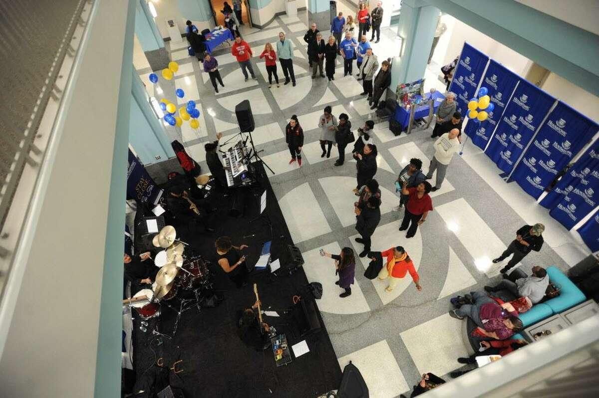 Housatonic Community College's 50th Anniversary Community Celebration in Bridgeport, Conn. on Thursday, April 19, 2018.