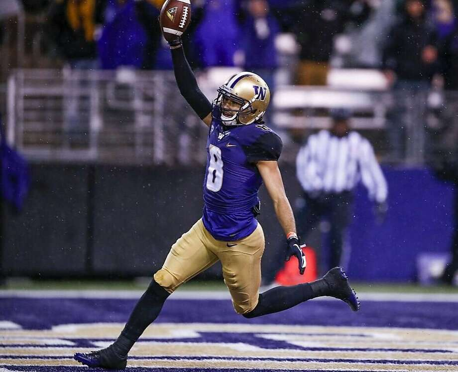The 49ers drafted Washington wide receiver Dante Pettis with the 44th overall pick in the NFL draft., their first pick of the second round. Photo: Washington