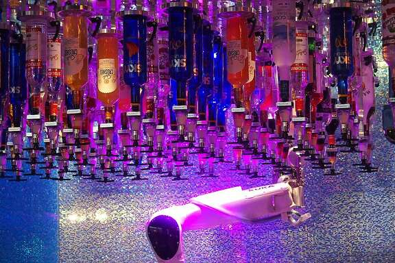 The Tipsy Robot, a bar in Las Vegas where drinks are mixed by robotic arms.