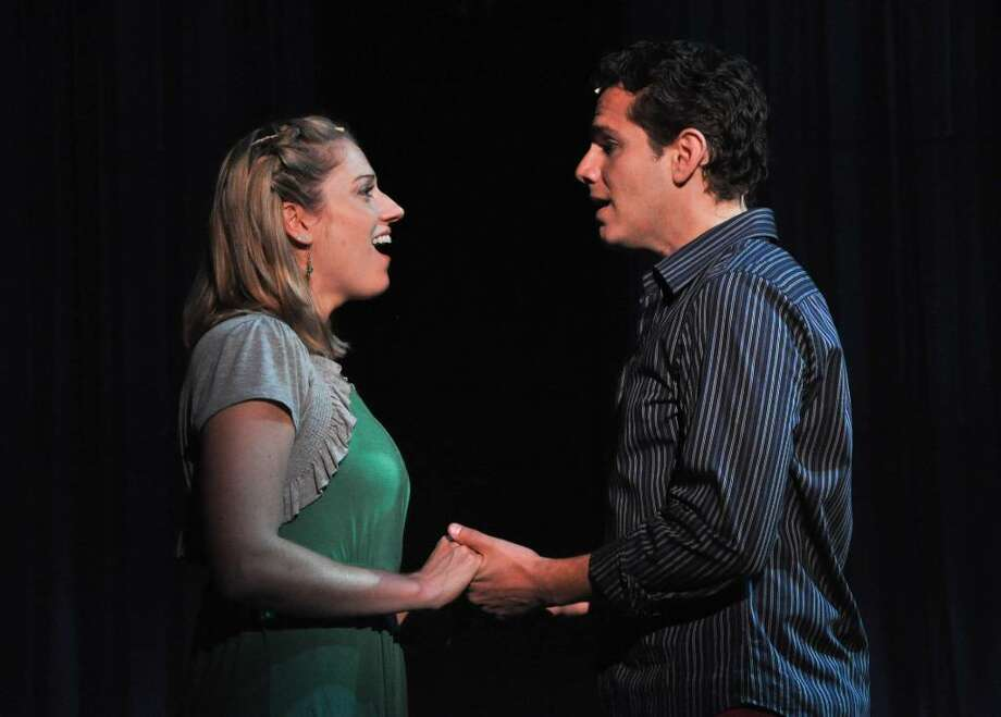 "Julie Reiber as Cathy and Paul Anthony Stewart as Jamie in Berkshire Theatre Festival's 2010 Main Stage Production of ""The Last Five Years"" by Jason Robert Brown. Directed by Anders Cato. (Courtesy of Berkshire Theatre Festival)"