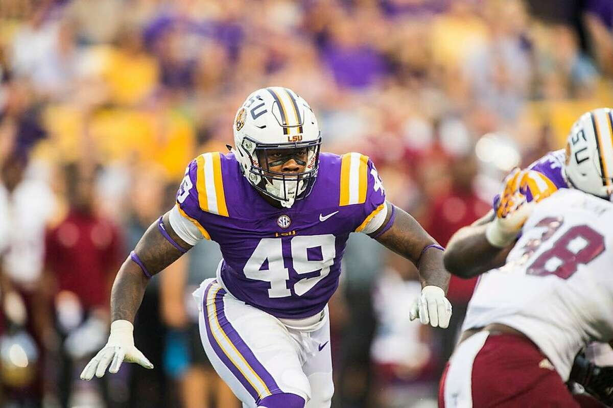 With the 87th overall pick in the NFL draft, the Raiders selected LSU defensive end Arden Key.