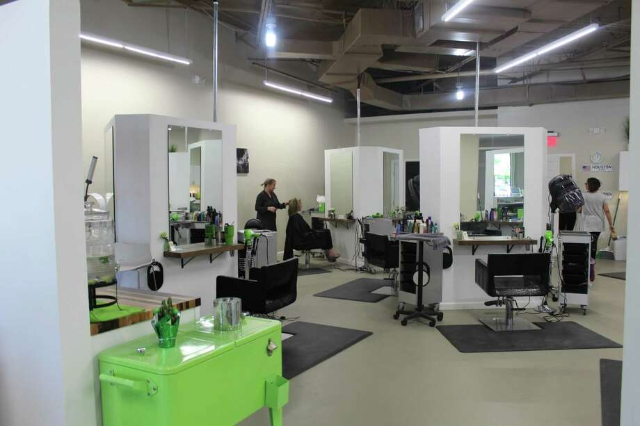 Sanke Hairdressers trades the conventional salon row layout for a more open concept design. Photo: Melanie Feuk / Melanie Feuk