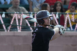 Lee's Ty Coleman hits against Odessa High April 27, 2018, at Pressly Field. James Durbin/Reporter-Telegram