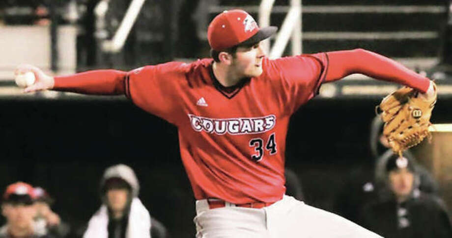 SIUE pitcher Collin Baumgartner, a freshman out of Southwestern, got the start and turned in six scoreless innings in the Cougars' 1-0 10-inning victory over Samford in Birmingham, Ala. Photo:       SIUE Athletics