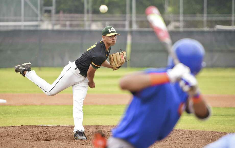 Ulises Hernandez took the loss as LCC fell 11-1 Friday in the first game of its doubleheader against Galveston. Photo: Danny Zaragoza /Laredo Morning Times / Laredo Morning Times