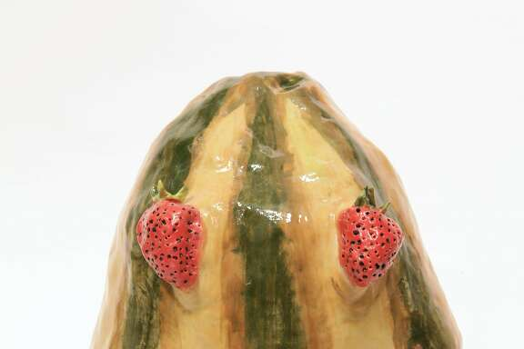 "Valerie Hegarty, ""Watermelon Head with Strawberry Eyes"" (2016)"